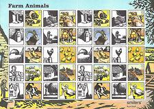 GREAT BRITAIN 2005 Royal Mail FARM ANIMALS SMILERS FULL SHEET