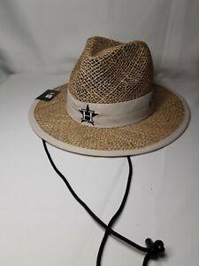 + MLB New Era Houston Astros Spring Training Shaded Straw Hat Baseball New!