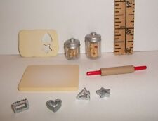 MINIATURE RETIRED RARE RE-MENT FASHION DOLL FOOD COOKIE CUTTER FOOD SET VHTF