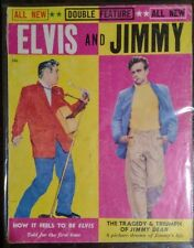 RARE Elvis Presley and James Dean Double Feature Magazine Issued 1956