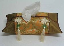 New Chinese Silk Tissue Box Cover w/Tassel Dragon Zsc10