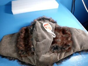 BOOTS & BARKLEY FAUX FUR WINTER DOG TRAPPER HAT SIZE extra large Pet Costume