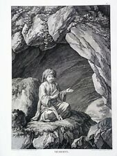 BELLE & RARE GRAVURE ORIGINALE Mehdy Grotte Tableau Général EMPIRE OTTOMAN 1787