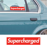 Supercharged turbo car vinyl window bumper stance racing drift sticker decal