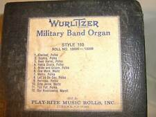 Nickelodeon Player Piano Band Organ Music Roll style 150 #13300-13308