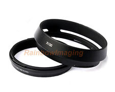 49mm Black Lens Hood Adapter Ring replaces LH-X100 for Fujifilm X100 X100s X100T