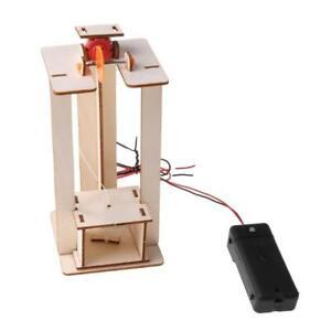 DIY Electric Elevator Lift Model Children Boy Toys Science Experiment Puzzles