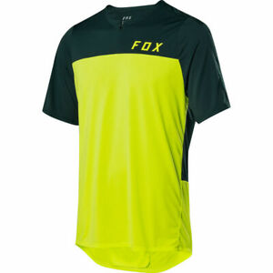 Fox Racing Flexair Zip s/s Short Sleeve Jersey Flo Yellow