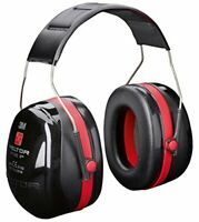3M Peltor H540A-411-SV Optime III Ear Muffs Headband 35 dB, BlackRed