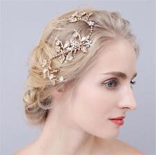 Sequin Crystal Leaf Vine Bridal Hair Band Bridesmaid Bridal Halo Wedding Prom