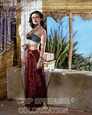 HEDY LAMARR in White Cargo  | Sexy Cheesecake 8x10 COLOR PHOTO BY CHIP SPRINGER