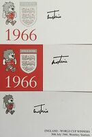 THREE ENGLAND 1966 WORLD CUP SIGNED CARDS TERRY PAINE SOUTHAMPTON FC - BARGAIN