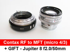 Contax/KIEV RF to Micro 4/3 M43 with helicoid CRF MFT adapter + Jupiter 8 f2/50