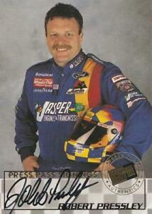 1998 Press Pass Signings #34 Robert Pressley HTF!