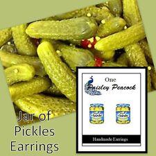 Pickle Earrings-Dill-Kosher-Jar