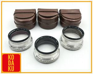 Rollei Rolleiflex Rolleinar I,II & III BAY II RII Full Set w/ Leather Cases
