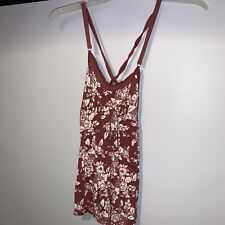 Abercrombie and Fitch Women's Size Small Tank Top spaghetti strap Red White