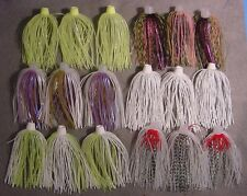 """18 BIO-FLEX """"SKIRTS PLUS"""" HOLE N ONE SILICONE SPINNERBAIT SKIRT ASSORTED COLORS"""