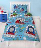 THOMAS THE TANK ENGINE FRIENDS TRAIN SINGLE DUVET QUILT COVER SET BOYS BLUE BED