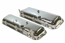 BB Chevy Chrome Steel Stock Short Style Valve Covers 396 427 454 1965 -1972