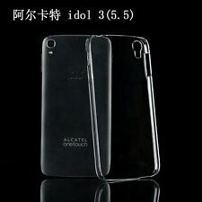 New Ultra-Thin Slim Hard  Clear Case Cover Skin for ALCATEL OneTouch Idol 3 5.5'
