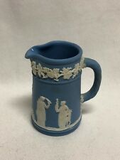 "Wedgwood Blue Jasperware Miniature Jug / Pitcher 2 1/2"" #2"