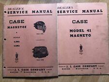 2 Original Old Case Model 41 4 Jma 4 Cma Magneto Service Manuals Factory