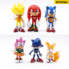 Sonic the Hedgehog Action Figures Set of 6Pcs 2.7'' Collectible Toy Cake Toppers