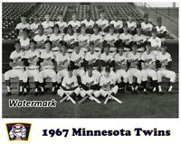 MLB 1967 Minnesota Twins Team Picture Rookie Rod Carew 8 X 10 Photo Picture