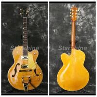 Hollow Body L5 Style Electric Guitar Gold Hardware Flamed Maple Top Grover Tuner