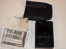 vintage Casio Tv-400 Pocket Tv w/ carrying case - Tested Works Great