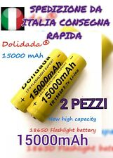 2X BATTERIA PILA RICARICABILE AL LITIO 3,7v PER TORCE LED DOLIDADA 15000mAh.