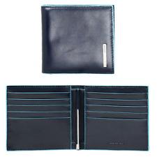 6cc18b1f031913 Piquadro Blue Square Portafogli uomo fermaglio clip banconote pelle  PU1666B2 BLU
