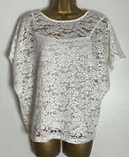 Dorothy Perkins Sample Ivory Jersey Cami Lace Top Size 12   (e)