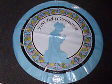 First Holy Communion Blue Mylar Balloon