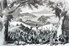 Booth Theater NYC 1871 WINTER'S TALE Dance of Satyrs Act IV Antique Matted Print