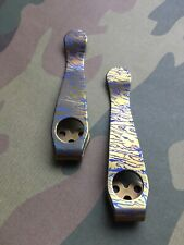 Spyderco Endura 4 - Gold Titanium Pocket Clip - Blue Splash