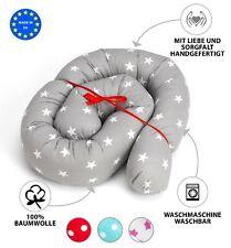 Nestchen Bettschlange Babynest Bettrolle Babynestchen Kissen Nackenrolle 150 180