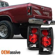 Fits 1989 1990 1991 1992 1993 1994 1995 Toyota Pickup LH+ RH [Black] Taillight