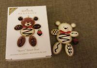 2010 Hallmark Keepsake Ornament Berry Sweet Bear Vanilla Repaint Register to Win