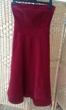 New Look Beautiful Deep Red A Line Dress Prom Special Occasion Size 8 Strapless