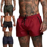 Men's Shorts Breathable Quick Dry Sports Pocket Trunks Boxer Training Running