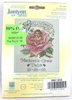 Janlynn Baby Birth Announcement Cross Stitch Kit Briar Rose 5x7 NEW #023-0439