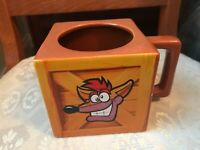 NUMSKULL CRASH BANDICOOT 2017 SQUARE MUG VGC UNUSED JUST DISPLAYED