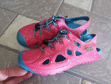 NEW KEEN RIO CLOSED TOE SANDALS SHOES PINK/BLUE GIRLS 11 CHILDREN 11 FREE SHIP