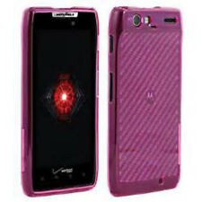 For Motorola DROID RAZR MAXX TPU CANDY Flexi Gel Skin Case Cover Pink Plaid