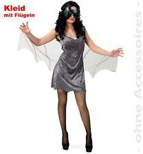 Fledermaus Kostüm für Damen 36-42 Bat Halloween Kleid Fasching Karneval 12126113