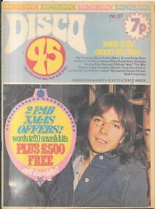 vintage Disco 45 lyric paper No 37 1973 David Cassidy status Quo