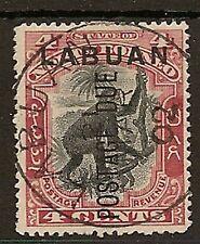 LABUAN 1901 4c POSTAGE DUE P14½-15 SGD3b FINE USED