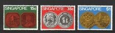 SINGAPORE 1972 COINS COMP. SET OF 3 STAMPS IN FINE USED CONDITION